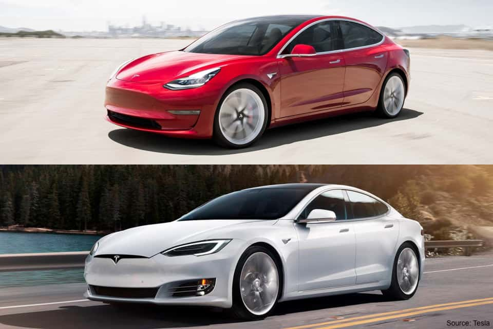 Tesla Model 3 Compared to Model S